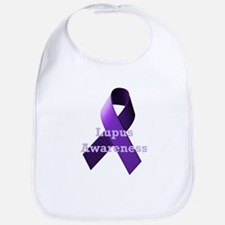 Purple Ribbon Lupus Awareness Bib
