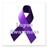 Lupus awareness ribbon Square Car Magnets