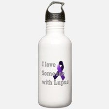 I Love Someone with Lupus Water Bottle