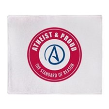 Atheist Proud Throw Blanket