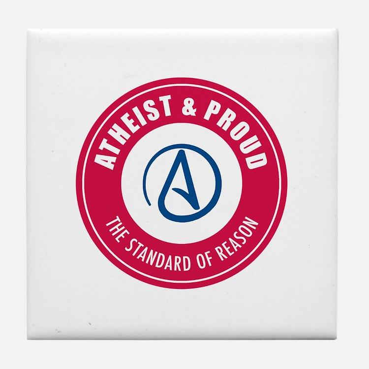 Atheist Proud Tile Coaster