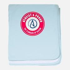 Atheist Proud baby blanket