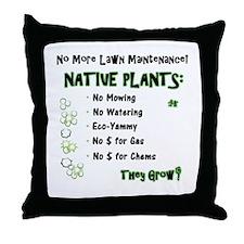Native Plants for Frontyard Throw Pillow