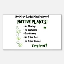 Native Plants for Frontyard Sticker (Rectangle)