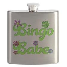 Bingo Babe Bubble Floral Flask