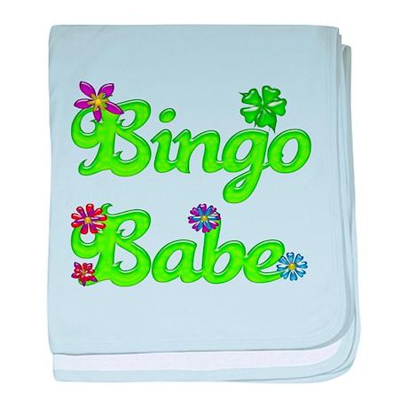 Bingo Babe Bubble Floral baby blanket