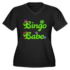 Bingo Babe Bubble Floral Women's Plus Size V-Neck