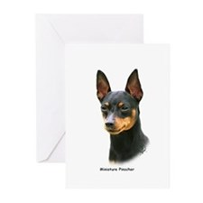 Min Pin 8A083-13 Greeting Cards (Pk of 10)