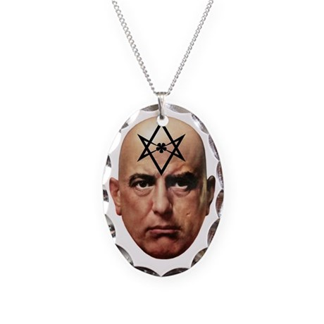 Aliester Crowley Necklace Oval Charm