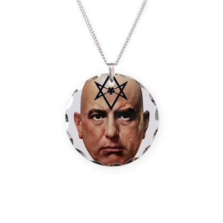 Aliester Crowley Necklace Circle Charm