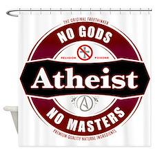 Premium Atheist Logo Shower Curtain