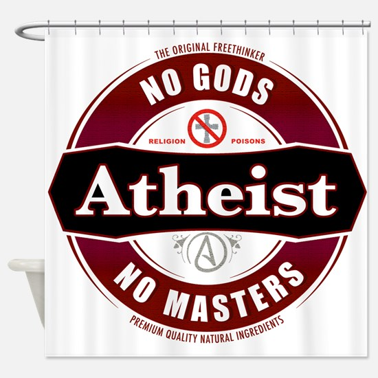 Premium Atheist Logo Shower Curtain