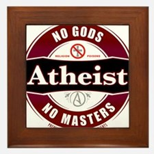 Premium Atheist Logo Framed Tile