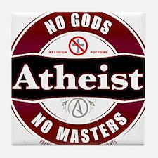 Premium Atheist Logo Tile Coaster