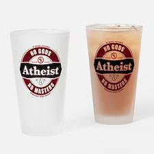 Premium Atheist Logo Drinking Glass