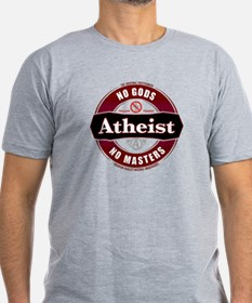 Premium Atheist Logo Men's Fitted T-Shirt (dark)