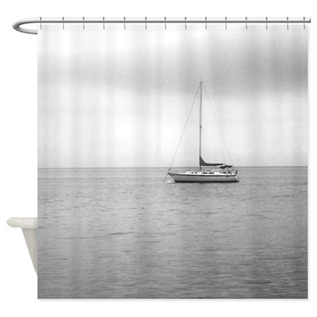 sailboat photo shower curtain