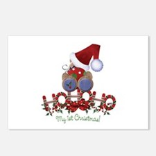 Ho Ho Ho 1st Christmas Postcards (Package of 8)