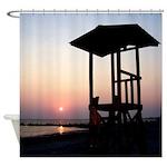 Lifeguard Sunset Photo Shower Curtain