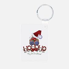 Ho Ho Ho 1st Christmas Keychains