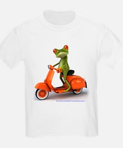 Around Cairns frog on Vespa T-Shirt