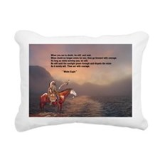 Go Forward With Courage Rectangular Canvas Pillow