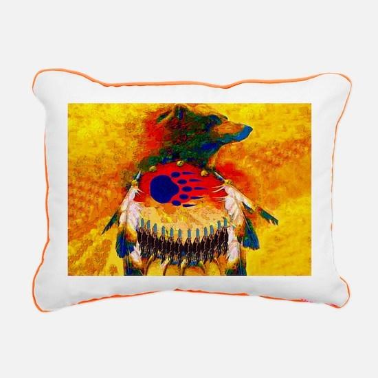 Bear Warrior Rectangular Canvas Pillow