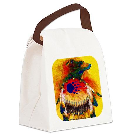 Bear Warrior Canvas Lunch Bag