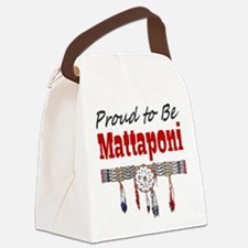 Proud-tobe-Mattaponi.png Canvas Lunch Bag