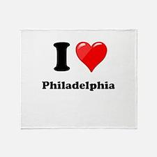 I Heart Love Philadelphia.png Throw Blanket