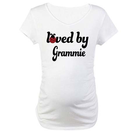 Loved By Grammie Ladybug Maternity T-Shirt