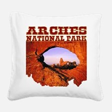 Arches National Park Square Canvas Pillow