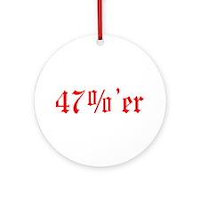 47 Percenter Ornament (Round)