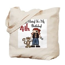 Pirate Party 4th Birthday Tote Bag