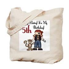 Pirate Party 5th Birthday Tote Bag