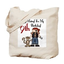 Pirate Party 9th Birthday Tote Bag