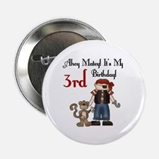 Pirate Party 3rd Birthday Button