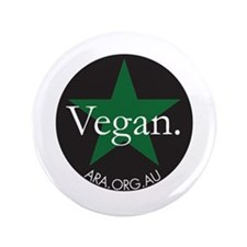 "Go Vegan Save Lives 3.5"" Button"