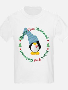 #2 Penguin 1st Christmas T-Shirt