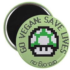 Go Vegan Save Lives Magnet