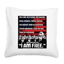 United States of Conformity Square Canvas Pillow