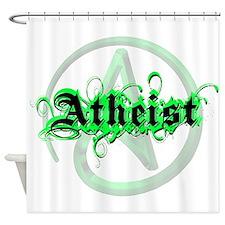Atheist Green Shower Curtain