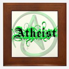 Atheist Green Framed Tile
