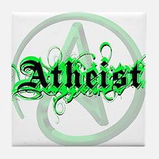 Atheist Green Tile Coaster