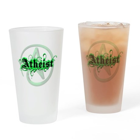 Atheist Green Drinking Glass