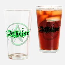 Atheist Green Drinking Glass