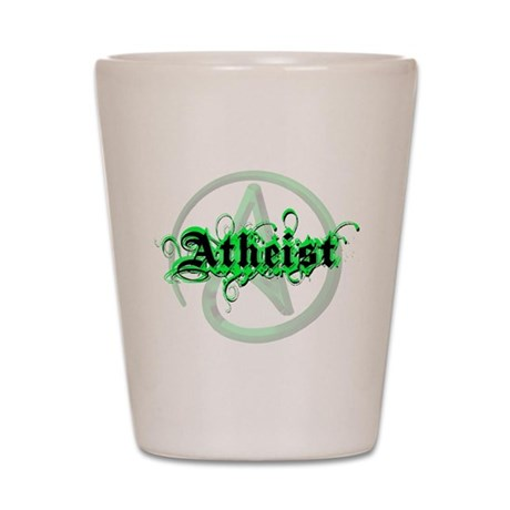 Atheist Green Shot Glass