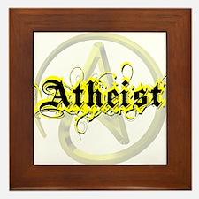 Atheist Yellow Framed Tile