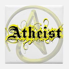 Atheist Yellow Tile Coaster