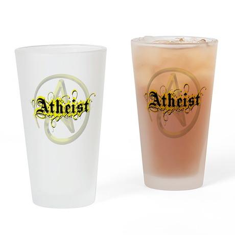 Atheist Yellow Drinking Glass